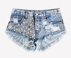 Studded denim shorts Levi's