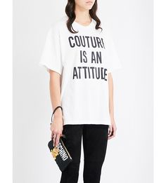 24a12fd43dac4 MOSCHINO Couture-print cotton-jersey T-shirt