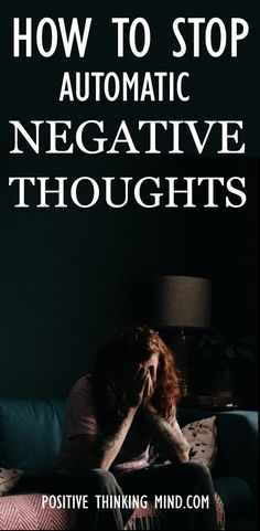 Our thoughts can become overwhelming and stressful, especially if they are negative. You can overcome and stop automatic negative thoughts with a few simple techniques to control and challenge your thinking. Positive Self Affirmations, Positive Mindset, Positive Images, Positive Quotes, Journal Quotes, Negative Thoughts, Ants, Self Love, Challenge