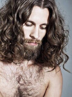 18 man with long hair and beard Long Hair Beard, Long Curly Hair, Men With Long Hair, Hair And Beard Styles, Curly Hair Styles, Great Beards, Facial Hair, Haircuts For Men, Hair Goals