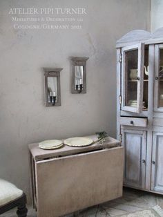 Foldable Table, Old Cabinets, Small Mirrors, Shabby Chic Style, Storage, Study, Furniture, Home Decor, Atelier