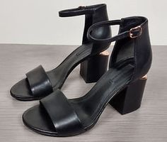 Alexander Wang Abby Tilt-Heel Leather Sandals Womens Size 6.5 / 36.5
