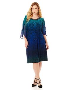 From Lane Bryant Rich Ombre Hues And Eye Catching Embellishments Add An Air Of Sophistication To This Stunning