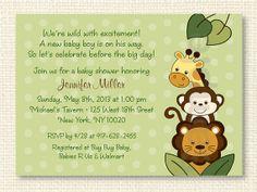 Jungle Animal Baby Shower Invitation Invite Safari INSTANT DOWNLOAD Editable PDF A311