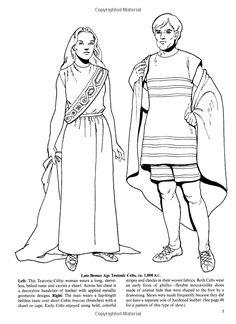 Tom Tierney - Vestimenta de los celtas teutónicos de la Edad de Bronce tardía, c. 1000 aC.