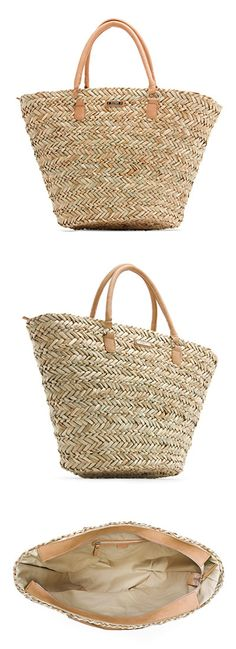 MANGO Wicker handbag