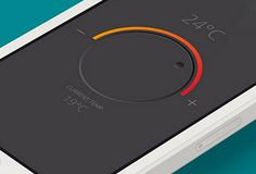 In the list below you will find fresh examples of mobile application interfaces that beautifully incorporate knobs and dials.