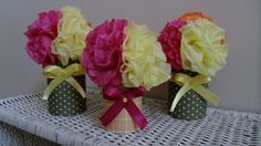 @Candace Kozlowski of Rock Candie Designs created these centerpieces. Visit www.rockcandiedesigns.com
