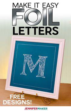 Cricut Foil Transfer Mandala Letters - Full Alphabet! - Jennifer Maker Letter Wall Art, Framed Wall Art, Letters, Interior Design Ikea, Blue Words, Diy Home Accessories, Jewel Colors, Diy Home Repair, Do It Yourself Home