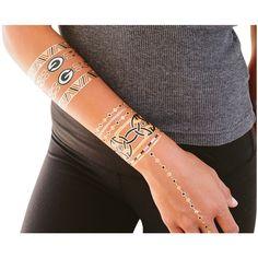 Green Bay Packers Metallic Fashion Tattoos