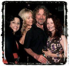 Robert Plant with famed groupies Lori Mattix (left) and Pamela Des Barres (right)