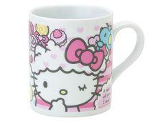 Hello Kitty Mug Cup Colorful Dream Sanrio Made in JAPAN