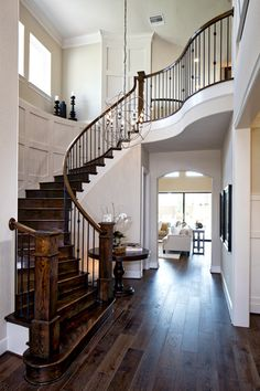 St. Paul Foyer - Reserve at Katy - Katy, TX - Fort Bend County Dream Home Design, My Dream Home, Home Interior Design, Foyer Design, Staircase Design, Beautiful Interiors, Beautiful Homes, House Stairs, Grand Staircase