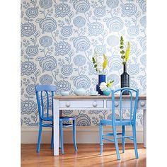 Buy Harlequin Beatrice Wallpaper, Blue, 110141 Online at johnlewis.com