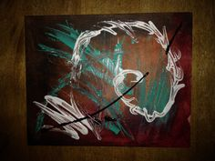 Diving into abstract head first!  -original acrylic abstract art