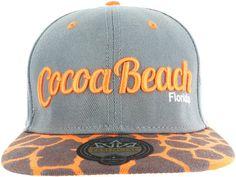 29035baf5fd COCOA BEACH ANIMAL PRINT GIRAFFE SNAPBACK BASEBALL CAP - BLACK AND RED at  Amazon Men s Clothing store