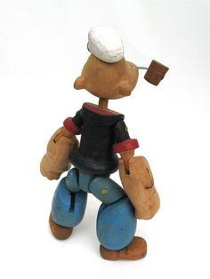 popeye ... wonderful wooden toy by timelesssdesign on Etsy