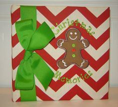 Gingerbread Cookie Christmas Memories in Red by doodlebugsga Purchase at www.doodlebugsga.etsy.com