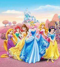 Wall mural wallpaper Disney princesses princess photo 180 x 202 cm / yd x yd murals & wall sticker photo murals Disney Princess Facts, All Disney Princesses, Disney Princess Fashion, Disney Princess Drawings, Disney Princess Pictures, Disney Drawings, Princess Photo, Princess Art, Photo Chateau