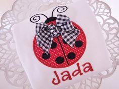 Lady Bug Personalized Shirt on Etsy, $23.99