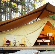 It's not glamping without a forest massage.