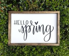 "CLEARANCE | Hello Spring | 13""x19.5"" 