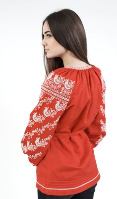 Червона вишиванка з білою вишивкою арт  112-15 00 купити в Україні і Києві  - відгуки 71442e01e3b0a