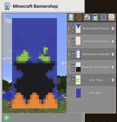 Which's cauldron Minecraft Banner Patterns, Cool Minecraft Banners, Minecraft Shops, Minecraft Cottage, Minecraft Seed, Minecraft Medieval, Minecraft Funny, Minecraft Plans, Minecraft Decorations