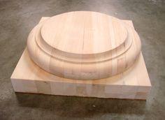 Large wood column base.