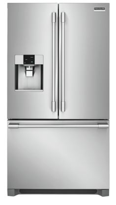 Kitchen | Frigidaire Pro Stainless Steel Refrigerator with French Doors and Dispenser Stainless Steel Refrigerator, French Door Refrigerator, French Doors, Floor Plans, Kitchen Appliances, Flooring, How To Plan, Park, Home