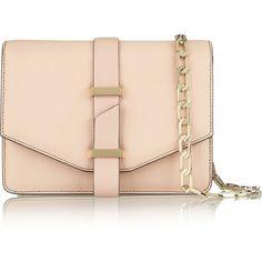 Textured-leather mini satchel ($840) ❤ liked on Polyvore featuring bags, handbags, purses, man satchel bag, mini satchel handbags, hand bags, handbag purse and mini satchel purse