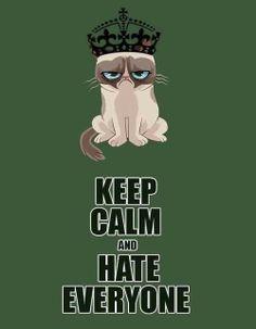 Hilarious: Grumpy Cat meme meets Keep Calm meme! For more funny memes and great humor visit www.bestfunnyjoke...