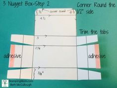 Stampin' Up! 3 Nugget Box Directions Step 2. See complete directions at…