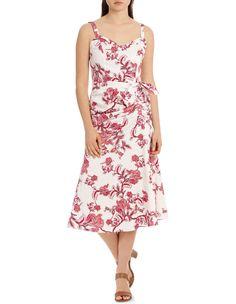 539424407a5 Dress Printed Ruched Detail image 1 My Wardrobe