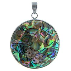 Abalone pendant checkered look by joining small squares of abalone (shell). Great for a festive night out.