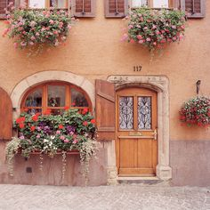 European photo of coattage and flowers in Alsace, France by Dennis Barloga | Photos of Europe: Fine Art Photographs by Dennis Barloga
