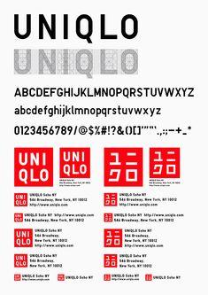 UNIQLO typeface designed by Kashiwa Sato Corporate Identity Design, Brand Identity Design, Graphic Design Branding, Typography Design, Logo Design, Visual Identity, Modern Typography, Brand Design, Editorial Design
