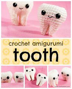 amigurumi tooth