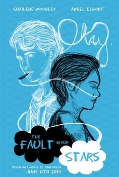 """2015 Reading Challenge -- A book """"everyone"""" had read but me -- """"The Fault In Our Stars"""" by John Green (cover by Grodansnagel on deviantART) John Green Libros, John Green Books, John Green Movies, Augustus Waters, The Fault In Our Stars, Designers Gráficos, Film Anime, Ansel Elgort, I Love Cinema"""