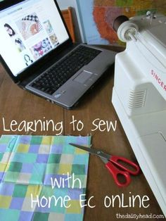 Learning to Sew at Home- with Home Ec Online {and HomeSchool High Link-Up}