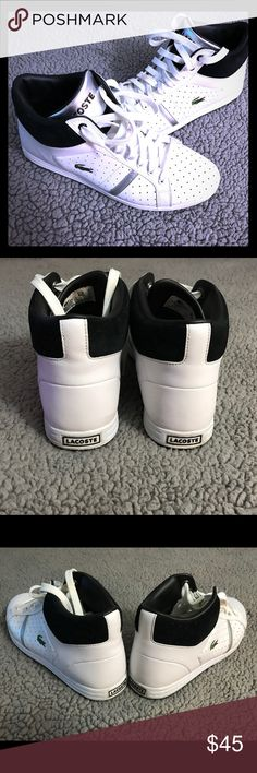 Men's Lacoste sneakers Lightly used men's sneakers. Only worn twice Lacoste Shoes Sneakers