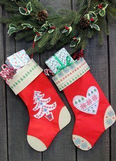 Gisela Graham Christmas Stockings for all the Family | Fabric Scandi Stockings