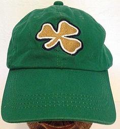 University of Notre Dame Official Green Irish Baseball Cap Hat Shamrock  Logo  Signatures  NotreDameFightingIrish c32776a8c53d