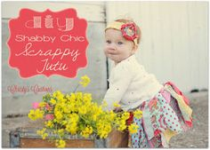 Christy's Customs and the Little House by the Olive Tree: A DIY Shabby Chic Scrappy Tutu {No Sew!!}