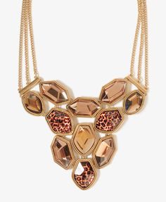 Bejeweled Leopard Bib Necklace  $12.80