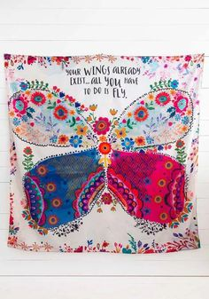 This Natural Life Your Wings Exist Tapestry features soft tapestry which is perfect for covering your wall or bed! Can also be used as a beach blanket. Family Christmas Gifts, Gifts For Family, 2nd City, Get Happy, Beach Blanket, Natural Life, Room Colors, Your Favorite, Picnic