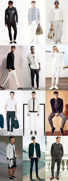 Men's Spring/Summer Monochrome Outfit Inspiration Lookbook