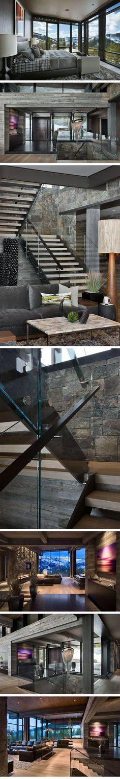 Luxury home design enhancing natural stones