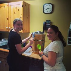 Caitlan and Karen taking 'turns' with our new ice cream maker! Every Friday should have ice cream! #icecream #handmade #museumlife #oshawamuseum #yum #icecreamyouscreamweallscreamforicecream  Thanks @tohistoricsites for your awesome advice on where to get one!