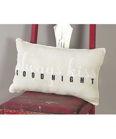 Look what I found on #zulily! 'Goodnight' Throw Pillow #zulilyfinds